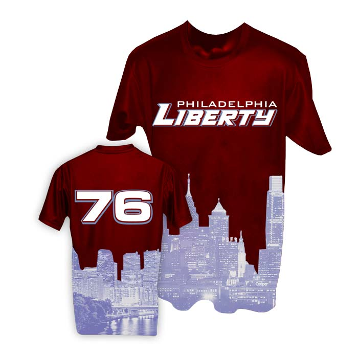 This is the Elite Horizon Shooting Shirt Philadelphia