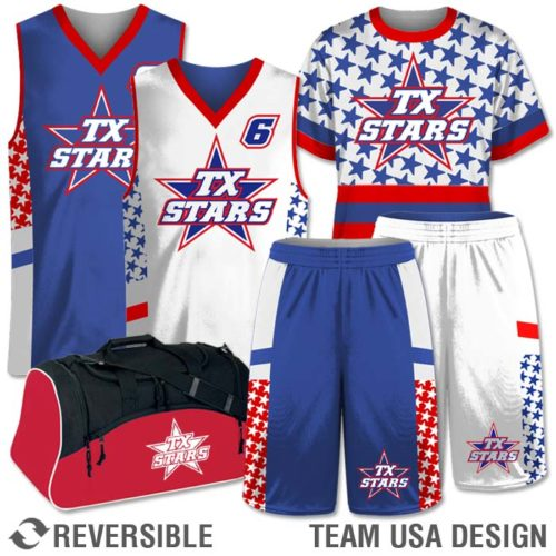 Custom Sublimated Basketball Reversible Uniform Team Pack Ball Reversal