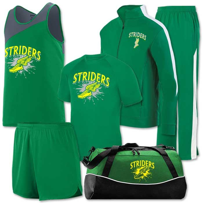 Team Pack Accelerate, Track Singlet, Short, Uniform, Warm-up, Bag