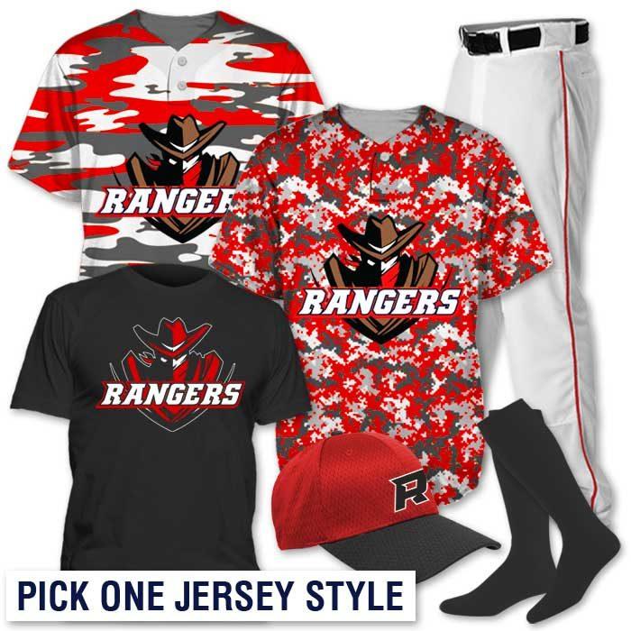 Team Pack Camo, Camo Baseball Jersey
