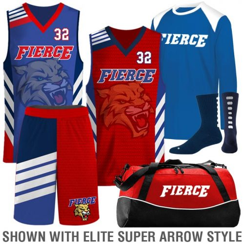 Custom Sublimated Basketball Uniform Team Pack Elite 2 on 1