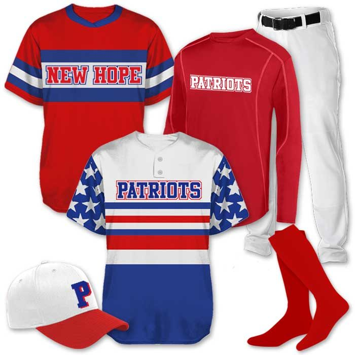 ustom Sublimated Baseball Team Pack Elite Duo, Patriotic Throwback Jerseys for my team