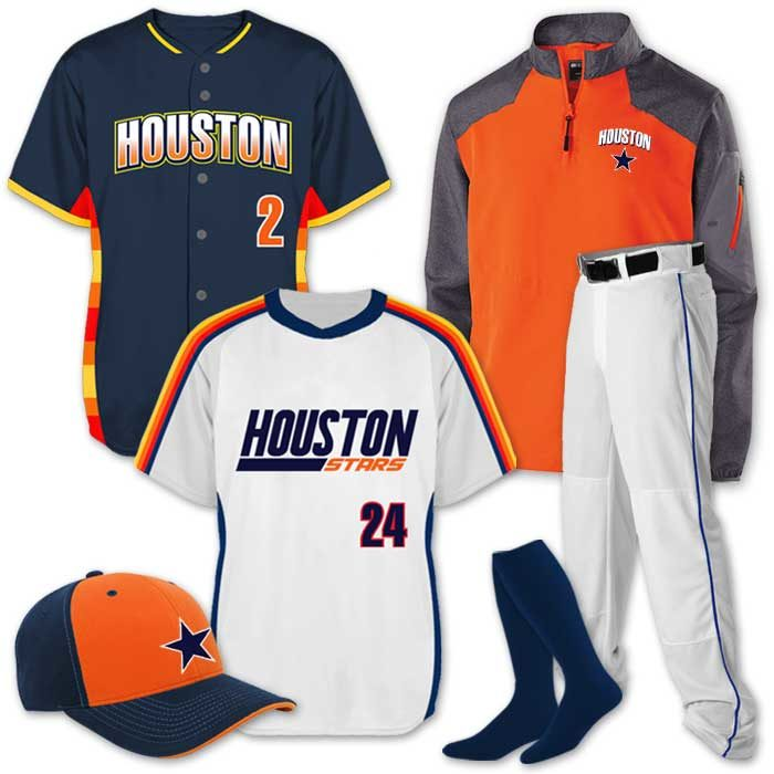 Team Pack Elite Now and Then uniform package featuring custom sublimated throwback jerseys