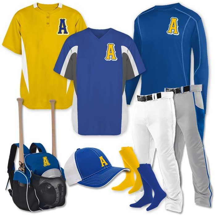 Baseball Team Pack Immaculate Inning in Royal Blue and Gold
