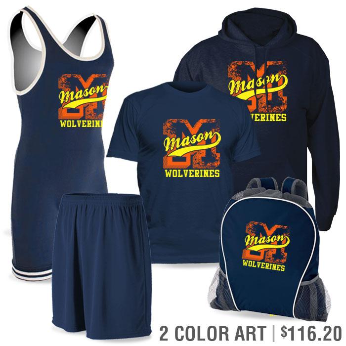 Team Pack Matman Regulation Discounted Wrestling Singlet Team Pack in Navy Blue