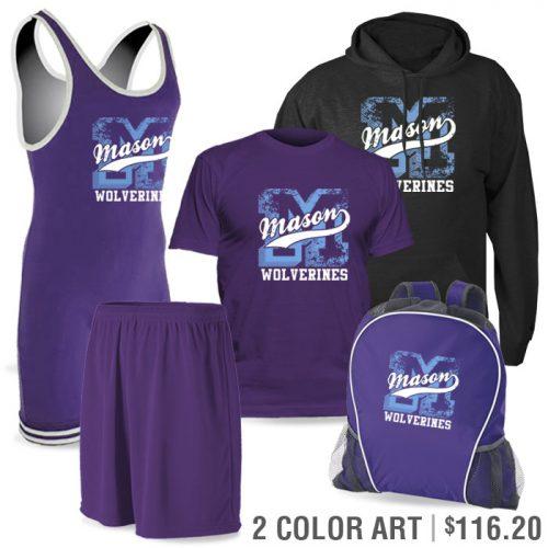 Team Pack Matman Regulation Discounted Wrestling Singlet Team Pack in Purple