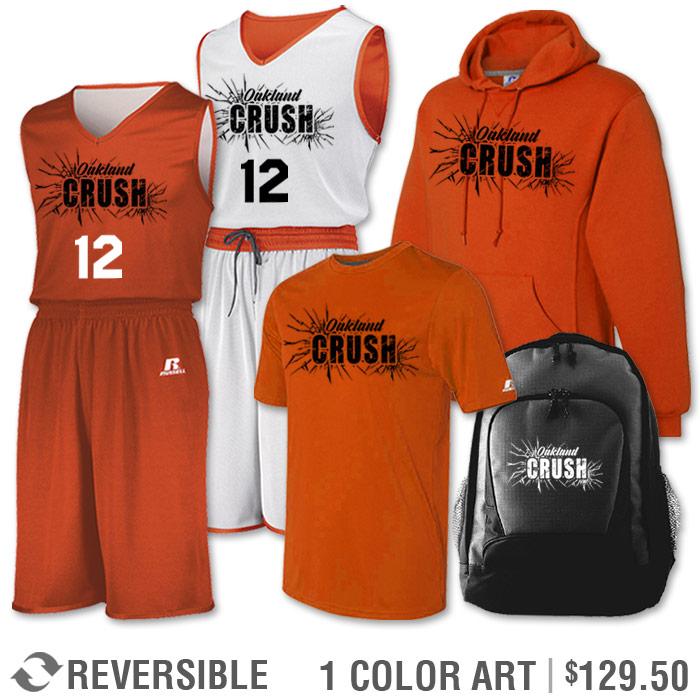 Team Pack Russell Undivided Reversible Uniform, Shooter, Hoodie and Bag in Burnt Orange