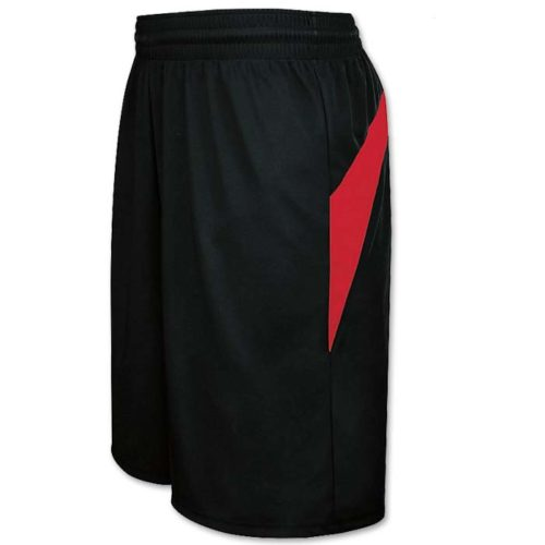 Transition Basketball Uniform Shorts in Black and Red