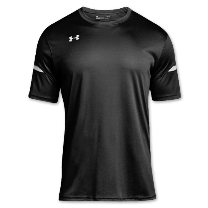 Under Armour brand stock lightweight Soccer Jersey in Black