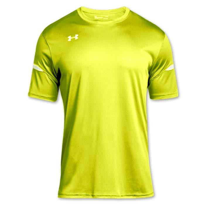 Under Armour brand stock lightweight Soccer Jersey in Hi Vis Yellow