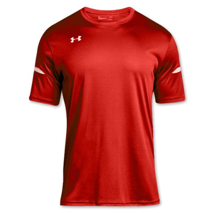 Under Armour brand stock lightweight Soccer Jersey in Red
