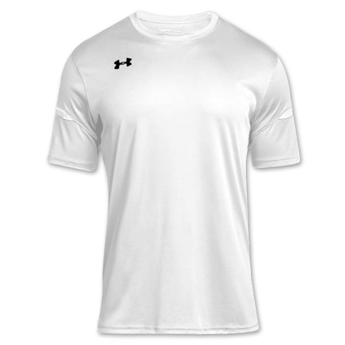 Under Armour brand stock lightweight Soccer Jersey in White