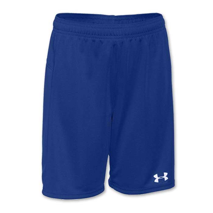 Under Armour brand stock lightweight Soccer Shorts in Royal