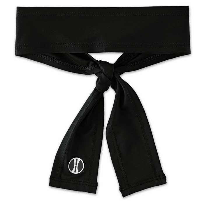 Black Zoom Tie Headband