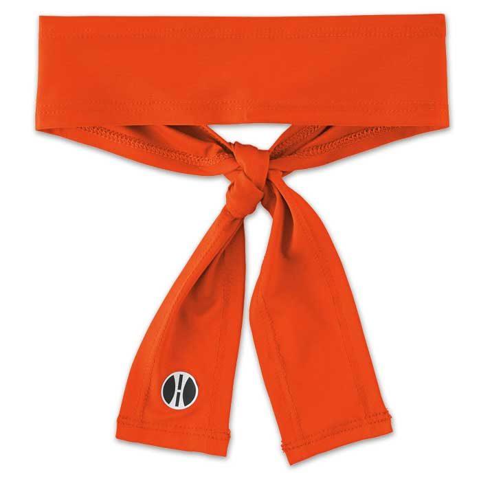 Orange Zoom Tie Headband